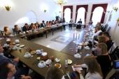 Состоялась традиционная пасхальная встреча митрополита Ростовского Меркурия с журналистами донских СМИ
