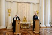 Întâistătătorul Bisericii Ortodoxe Ruse a luat parte la recepția cu prilejul Paștelor de la Ministerul afacerilor externe