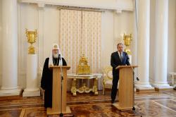 Предстоятель Русской Православной Церкви принял участие в Пасхальном приеме в Министерстве иностранных дел