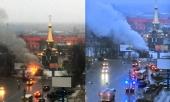 В Архангельске на привокзальной площади совершен поджог часовни прп. Сергия Радонежского