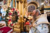 Mitropolitul Kievului Onufrii a săvârșit slujbele dumnezeiești la mănăstirea Zimnenskiy și în Lavra Poceaev