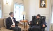 Митрополит Волоколамский Иларион встретился с президентом сербского Центра по содействию международному сотрудничеству и стабильному развитию Вуком Еремичем