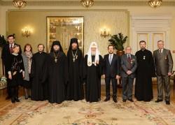 Святейший Патриарх Кирилл вручил награды сотрудникам Московской Патриархии, отмечающим знаменательные даты в 2017 году