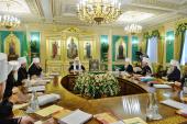 Предстоятель Русской Церкви возглавил очередное заседание Священного Синода