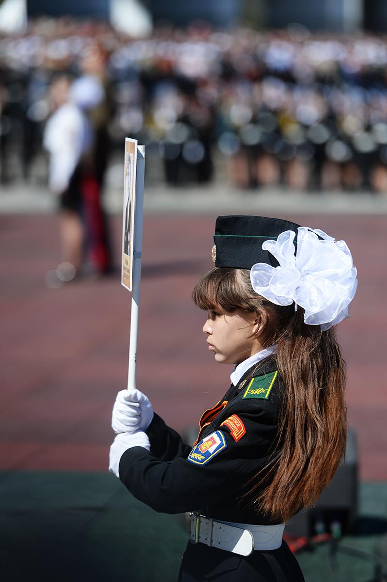 Парад «Не прервется связь поколений» на Поклонной горе в Москве