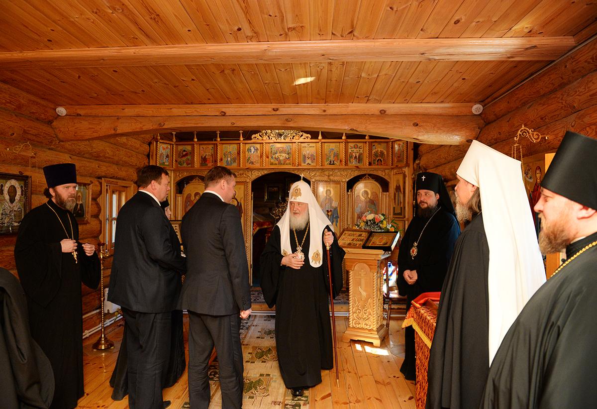 Осмотр Святейшим Патриархом Кириллом Никольского Шостьенского монастыря