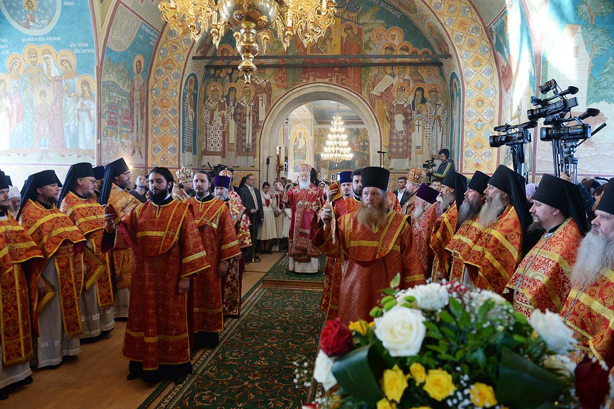 Патриаршее служение в Никольском Шостьенском ставропигиальном монастыре