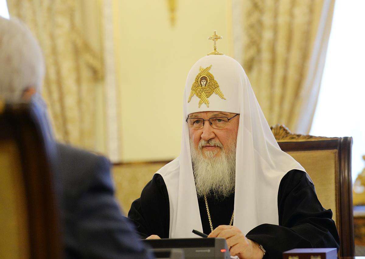 Встреча Святейшего Патриарха Кирилла с Президентом Государства Палестина Махмудом Аббасом