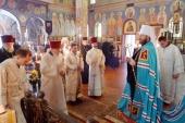 Митрополит Волоколамский Иларион совершил всенощное бдение в Вашингтонском Иоанно-Предтеченском соборе Русской Православной Церкви Заграницей
