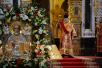 Патриаршее служение в день памяти святителя Николая Чудотворца в Храме Христа Спасителя в Москве