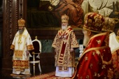 В день памяти святых равноапостольных Мефодия и Кирилла Святейший Патриарх Кирилл совершил Литургию в Храме Христа Спасителя в Москве