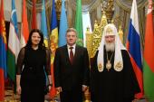 Встреча Святейшего Патриарха Кирилла с Президентом Республики Македония Георге Ивановым