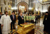 Посещение Президентом России В.В. Путиным Храма Христа Спасителя в Москве