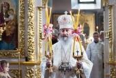 В праздник Вознесения Господня Блаженнейший митрополит Онуфрий совершил Литургию во Флоровском монастыре Киева