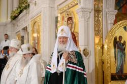 Слово Святейшего Патриарха Кирилла после освящения храма Воскресения Христова и Новомучеников и исповедников Церкви Русской в Сретенском монастыре