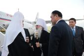 Патриарший визит в Киргизию. Прибытие в Бишкек