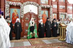 Слово Святейшего Патриарха Кирилла после освящения Воскресенского кафедрального собора в Бишкеке