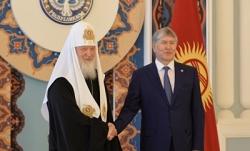 Состоялась встреча Святейшего Патриарха Кирилла с Президентом Киргизской Республики А.Ш. Атамбаевым