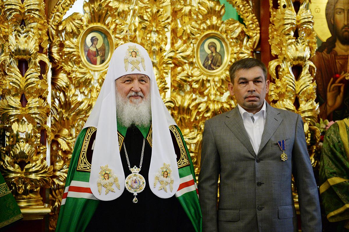 Патриаршее служение в день Святого Духа в московском храме Живоначальной Троицы в Троице-Лыкове
