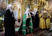 Святейший Патриарх Кирилл посетил Успенский Трифонов мужской монастырь в Кирове