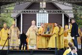 Слово Святейшего Патриарха Кирилла после Литургии на берегу реки Великой в день празднования явления Великорецкой иконы святителя и чудотворца Николая