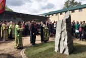 В Андрониковом монастыре Москвы установлен закладной камень памятника героям четырех войн