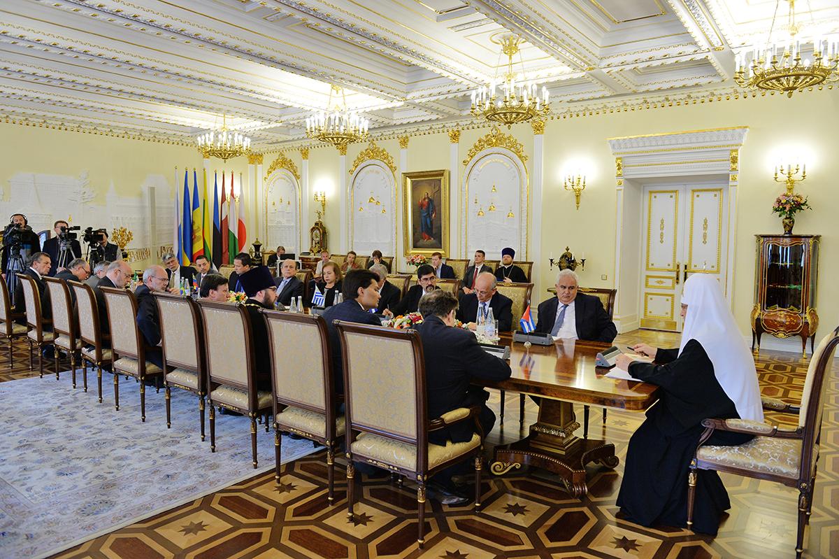 Встреча Святейшего Патриарха Кирилла с главами дипломатических миссий латиноамериканских стран в Российской Федерации
