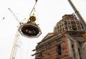 Глава Вятской митрополии освятил купол на восстанавливаемом Спасском соборе города Кирова