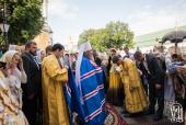 В Неделю 2-ю по Пятидесятнице Предстоятель Украинской Православной Церкви возглавил Литургию в Успенском соборе Киево-Печерской лавры