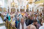 В праздник Всех святых, в земле Русской просиявших, Патриарший экзарх всея Беларуси совершил Литургию в Свято-Духовом кафедральном соборе Минска
