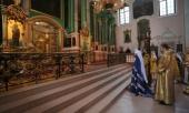 В тридцатую годовщину своего монашеского пострига митрополит Волоколамский Иларион совершил Литургию в Виленском Свято-Духовом монастыре