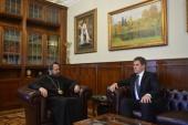 Председатель ОВЦС встретился с послом Беларуси в России