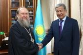 Состоялась встреча митрополита Астанайского и Казахстанского Александра с послом Республики Казахстан в Российской Федерации