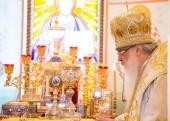 В праздник Собора Белорусских святых митрополит Филарет возглавил престольный праздник домового храма Минского епархиального управления