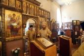 Первая за сто лет архиерейская служба прошла в храме при Главном военном клиническом госпитале им. Бурденко