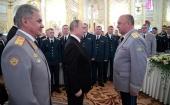 Председатель Синодального отдела по взаимодействию с Вооруженными силами посетил торжественный прием в честь выпускников военных вузов в Кремле