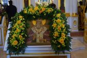 Сонм архипастырей и духовенства из ряда епархий Русской Православной Церкви приняли участие в торжествах в день 15-летия перенесения мощей святителя Феофана Затворника в Вышенском монастыре