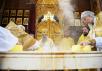 Патриаршее служение в московском храме преподобной Евфросинии в Котловке. Хиротония архимандрита Фомы (Демчука) во епископа Гдовского