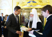 Встреча Святейшего Патриарха Кирилла с министром внешнеэкономических связей и иностранных дел Венгрии П. Сийярто