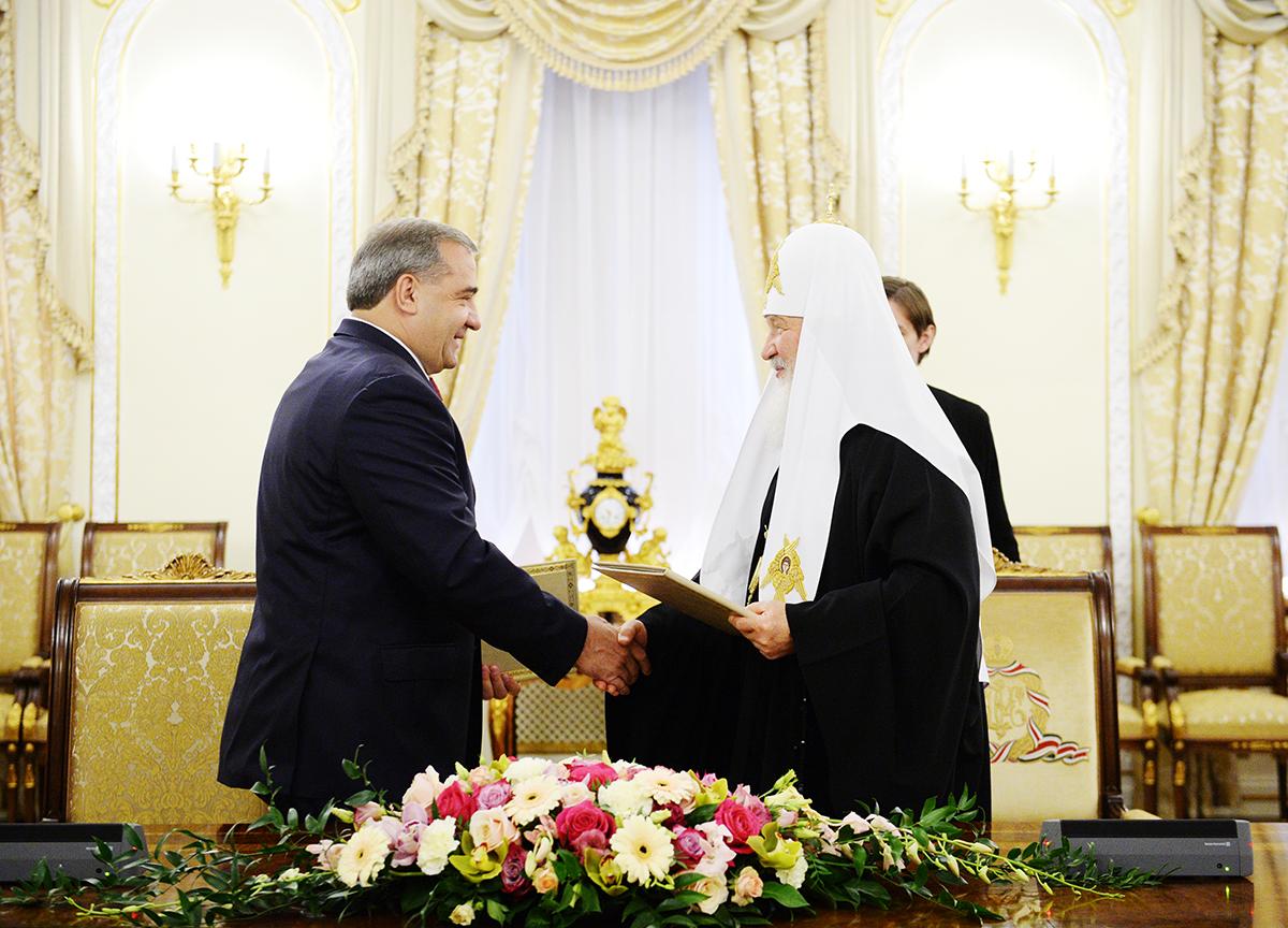 Подписание Соглашения о сотрудничестве между Русской Православной Церковью и МЧС России