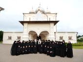 Святейший Патриарх Кирилл посетил Варлаамо-Хутынский женский монастырь