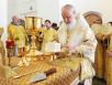 Патриарший визит в Новгородскую митрополию. Литургия в Николо-Вяжищском монастыре
