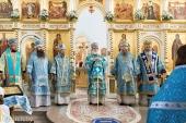 Патриарший экзарх всея Беларуси возглавил торжества по случаю праздника Сукневичской иконы Божией Матери в городе Сморгони