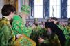 Патриарший визит на Валаам. Литургия в верхнем храме Спасо-Преображенского собора. Прибытие в Валаамский монастырь Президента РФ В.В. Путина
