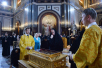 Торжественные проводы ковчега с частью мощей святителя Николая Чудотворца из Москвы в Санкт-Петербург
