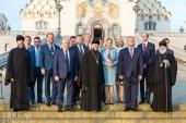 Состоялся прием от имени Патриаршего экзарха всея Беларуси по случаю визита Президента Республики Молдова