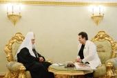 Состоялась встреча Святейшего Патриарха Кирилла с губернатором Владимирской области С.Ю. Орловой