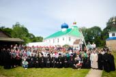 Председатель Синодального отдела по делам молодежи принял участие в открытии летнего слета молодежи Белорусской Православной Церкви