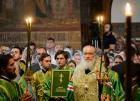 Святейший Патриарх Кирилл совершил в Троице-Сергиевой лавре малую вечерню с акафистом преподобному Сергию