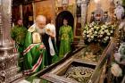 В канун дня памяти преподобного Сергия Радонежского Предстоятель Русской Церкви прибыл в Троице-Сергиеву лавру